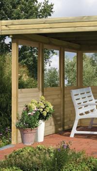 Seitenteile für Gartenpavillon